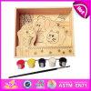 2014 het Nieuwe Kleurrijke Stuk speelgoed van de Verf van het Gezicht van Kinderen, het Houten Stuk speelgoed van de Verf van Kinderen Popualr, het Hete Verkopende Stuk speelgoed W03A060 van de Verf van de Kinderen van het Onderwijs DIY