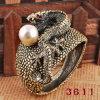 Jóia da forma/pulseira chapeada bronze do estilo da pérola do cuspo do dragão (3611)