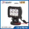 luz do trabalho da luz 18W do carro do diodo emissor de luz da lâmpada do CREE 4X4 auto