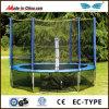 Trampoline barato grande ao ar livre de 6FT-16FT com cerco para a venda