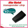 Después de la viruta auto Tp19 del transpondor del espacio en blanco 4D60 40bit del mercado hecha en Malasia