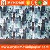 Het moderne Behang van de Slaapkamer van de Stad Decoratieve Vinyl
