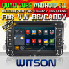 Automobile DVD del Android 5.1 di Witson per il VW B6/carrello (W2-F9241V)