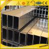 Perfil cuadrado de aluminio del tubo con tallas y colores modificados para requisitos particulares