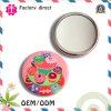 Miroir fait sur commande de poche en métal de logo coloré de DIY/petit miroir rond