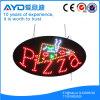 Oval de Hidly o sinal do diodo emissor de luz da pizza de Ásia