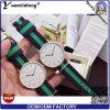 Fabrik-Edelstahl-bunte NATO-Nylonband-Uhr-Armbanduhr Drees Dame Casual Men Watches der Uhr-Yxl-100 2016