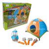 テントが付いているブティックのプレイハウスのプラスチックおもちゃ小さい探検家のキャンプセット
