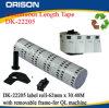 Gran Dk22205 escritura de la etiqueta 62mm* los 30.48m compatibles para el hermano Dk22205 con el marco movible