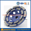 колесо чашки двойного диаманта рядка 5 меля для бетона и мрамора