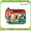 Souvenir de touristes personnalisé Budapest (RC-HU) de cadeaux de PVC d'aimants promotionnels de réfrigérateur