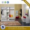 Wardrobe de madeira dos armários Walk-in do armazenamento do projeto superior (HX-LC2057)