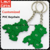 PVC superiore Keychain di abitudine di vendita con la promozione
