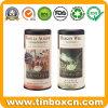 Круглый чай олова может для упаковки Caddy чая, коробки олова