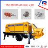 Pompe concrète portative électrique hydraulique de vente chaude de pompe à piston 55kw de fabrication de poulie (HBT50.10.55S)