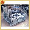 Складная Stackable стальная клетка ячеистой сети хранения для хранения