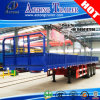 3軸線50tonの重義務Column Board Truck Semi Trailer
