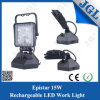Lámpara recargable portable del trabajo de la luz de inundación de 15W LED