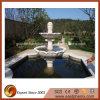 Fontana di acqua di scultura di pietra bianca del giardino di prezzi poco costosi