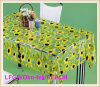 PVC Printed Transparent Table Cloth para Wedding