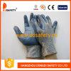 Gants résistants coupés par doublure de fibres de verre enduisant les nitriles bleus Dcr116