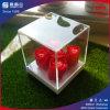 Cas d'exposition acrylique carré avec la couverture amovible