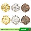 Concevoir votre propre médaille blanc en alliage de zinc de sport en métal de récompense d'or de production de métiers en métal de coutume