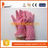 Розовые перчатки латекса домочадца с свернутым тумаком DHL421