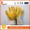 Ce 2017 de trabalho revestido da luva da segurança da luva do algodão de Ddsafety nitrilo amarelo