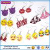 Pendiente rojo de los labios de la venta al por mayor de la fábrica de Guangzhou, pendiente del tema de Emoji