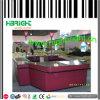 Doppelter seitlicher Supermarkt-Prüfungs-Kostenzähler-Standplatz auf Verkauf