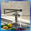 Misturador sanitário do dissipador de cozinha dos mercadorias do cromo de bronze dobro quente do giro do punho