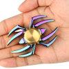 Brinquedo colorido do giroscópio dos dedos do girador da mão da inquietação da aranha do arco-íris
