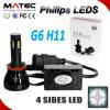 G6 sexto os bulbos os mais novos do farol do diodo emissor de luz do carro da geração 4800lm H11