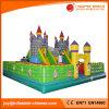 Personaggio dei cartoni animati gigante che salta castello rimbalzante per divertimento dei capretti (T6-029)