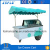 La poussée de crême glacée transporte en charrette le chariot crème crême de congélateur de /Ice/glacée