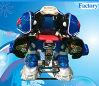 La batería de seis colores funciona a rey Robot Ride de la batalla para el mecanismo impulsor de los cabritos en la alameda de compras