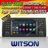 Carro DVD do Android 5.1 de Witson para BMW E39 (1995-2003) (W2-F9755B)