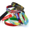 Wristband su ordinazione del silicone di Debossed di colore di contrasto