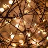 電池式LEDの休日はクリスマスの装飾の小型銀製の銅線の見えない妖精の星明かりのきらめきストリングライトをつける