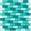 工場緑ガラスの立方体のタイル