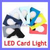 La lumière de Noël par la carte de crédit portative de cadeau de promotion de lampe du livre DEL de la lumière de pochette