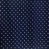 Tela de materia textil impresa de lino del hogar de la ropa de los puntos de polca del 100%