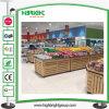 Estante de madera de la fruta del supermercado para la visualización
