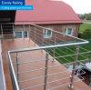 Diseños redondos del pasamano de la terraza del poste del acero inoxidable del balcón de la alta calidad de Forshan AISI 304/316