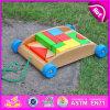 2015 giocattoli di legno educativi del carrello, giocattolo di legno Handmade del carrello dell'automobile di resistenza dei blocchetti dei bambini, giocattolo di legno W13c019 dell'automobile del blocchetto del carrello del blocco