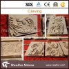 Britisches Gold Marble Embrassed Stone Carvings für Wall Decoration