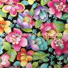 Tela impressa algodão impressa reativa da flor para o vestido de Chirden