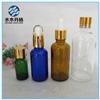 botella de cristal del cuentagotas azul ambarino del petróleo esencial de 20ml 30ml para la venta