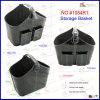 De glanzende Zwarte Nylon Mand van het Leer (1084R1)